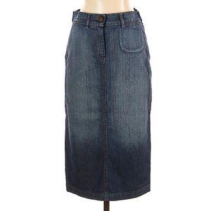 Alexander McQueen denim pencil skirt cotton blue